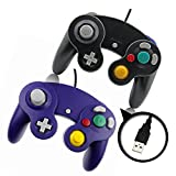 Black and Purple Gamecube Style USB Wired Controllers for Emulator PC and Mac-Classic Nintendo GC Gamecube PC Wired Gamepad by MarioRetro