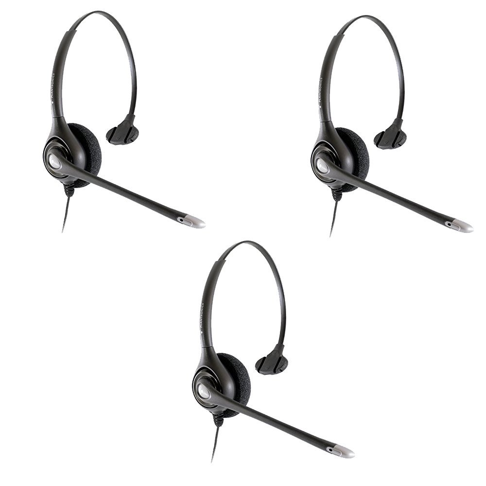 Plantronics HW251n Wired Office Headset- 3 Pack (Renewed) by Plantronics