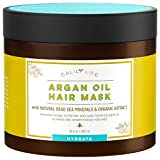 Cheap Calily Life Organic Moroccan Argan Oil Hair Mask with Dead Sea Minerals, 17 Oz. – Deep Conditioner and Nourishing – Promotes Healing & Hair Growth -Detoxifies, Strengthens, Shines & Softens [ENHANCED]