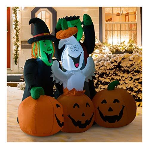 (5FT Halloween Airblown Inflatable Ghost Pumpkin Jack O Lantern Yard)