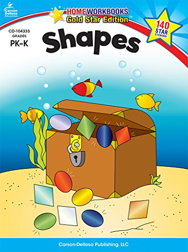 Shapes, Grades PK - K: Gold Star Edition (Home Workbooks)