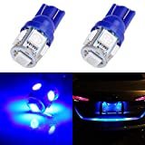 2012 Acura TSX License Plate Light Bulbs - cciyu 194 Extremely Bright LED Bulbs 5-5050-SMD Light Lamp License Plate Light Lamp Wedge T10 168 2825 W5W Blue Pack of 2