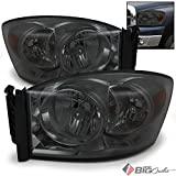 08 dodge ram smoked headlights - For 2006-2008 Ram 1500, 2006-2009 2/3500 Smoked Headlights Front Head Lamps LH+RH Pair Left+Right/2007