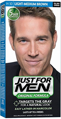 JUST FOR MEN Hair Color Light-Medium Brown H30 1 Each (Pack of 9) by Just for Men