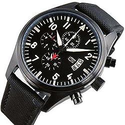 Carlien TOP GUN Black Dail PVD Case Luminous Quartz Men's Pilot Watches