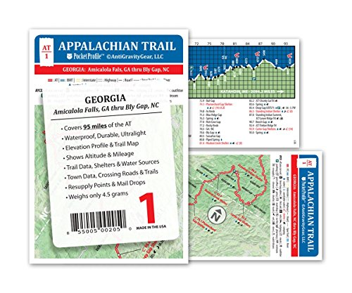 Appalachian Trail Map AT 1 Georgia AT Pocket Profile