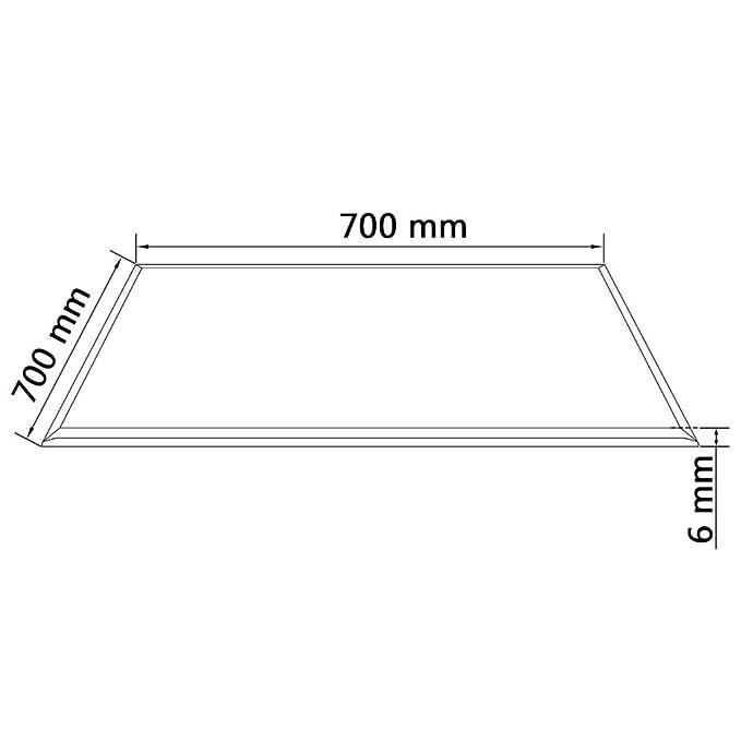 vidaXL Tablero Mesa Cristal Templado Cuadrado 700x700 mm Mesilla ...