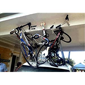 Rig on Rack - Bike Roof Rack and Bike Rear Rack Windshield Reminder and Warning System - A Non-Adhesive Removable and Reusable Vinyl Window Cling - Save Your Bike Car and Rack from Damage!