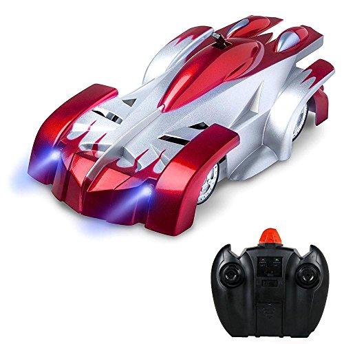 Teepao ラジコンカー 壁を走る おもちゃ カー 無線操作 リモコンカー 赤外線コントロール 電動RCカー rcラジコンオフロード 防水 子供 室内 おもちゃ 青