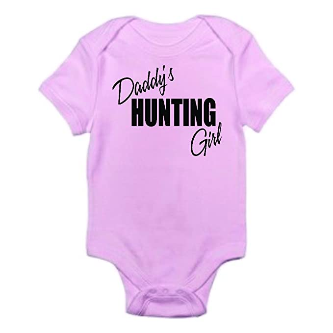 9170b6030 Design with Vinyl Baby Clothes Daddys Hunting Girl One-Piece Bodysuit  Romper Creeper Girl Shortsleeve