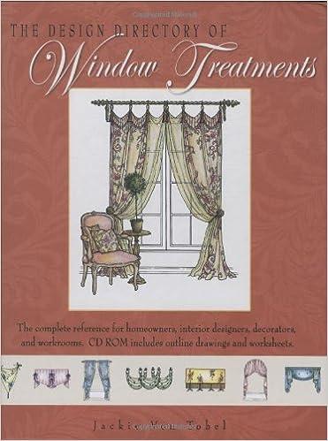 Design Directory Of Window Treatments, The: Jackie Von Tobel:  9781423602163: Amazon.com: Books