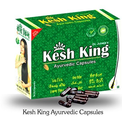 (Kesh King Herbal Ayurvedic Hair Growth Capsule 3 X 10 =30 Capsules -)