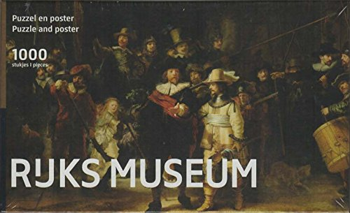 Puzzleman 1000 Piece Puzzle with Poster - Rejks Museum: The Nightwatch By Rembrandt