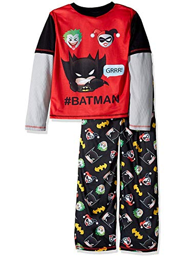 Batman Emoji Pajamas Set Batman, Joker, and Harley Quinn Boys (Little Kid/Big -
