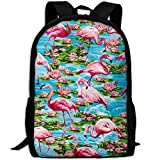 Best KAKA Work Backpacks - Pink Flamingos and Lotus Canvas Laptop Backpack Cute Review