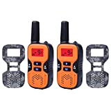 Kids Walkie Talkies Rechargeable, 2 FREE Changeable Camouflage Plates 22 Channel FRS/GMRS 2 Way Radio 2 Miles (up to 3.7 Miles) UHF Handheld Walkie Talkie for Kids