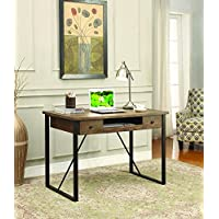 Coaster Home Furnishings 801200 Computer Desk, Walnut/Black