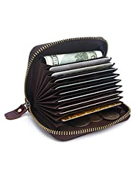 APHISON RFID Credit Card Holder Wallets For Women Leather Ladies Coin Purse/Gift Box 8117 (PURPLE)