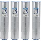 Pleatco PCC130-PAK4 Replacement Cartridge for Pentair Clean and Clear Plus 520, Waterway Crystal Water, Pack of 4 Cartridges