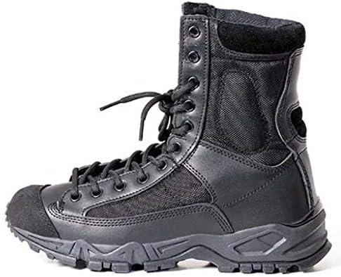 男性は滑り止めの通気性アウトドア休日黒と白のstyieのためのレースアップあきネットレースアップラバーラウンドヘッド靴をハイキング用の靴をトレッキング (色 : 黒, サイズ : 26 CM)
