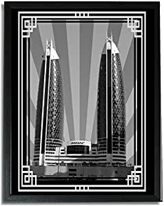 Photo of Damac Tower-Black And White With Silver Border No Text F09-NM (A5)