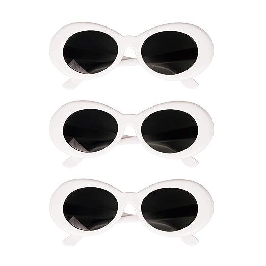 Sharplace 3X Retro Gafas Clout Goggles Oval Bold Enmarcadas Adorno ...