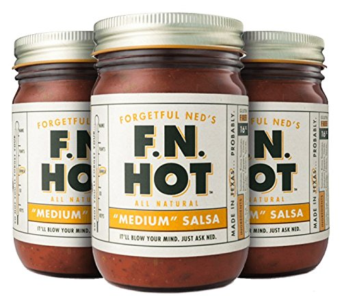 Forgetful Ned's Medium Salsa (3 pack) by FN Hot