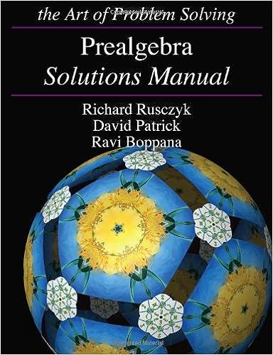 Prealgebra solutions manual richard rusczyk david patrick ravi prealgebra solutions manual richard rusczyk david patrick ravi boppana 9781934124222 amazon books fandeluxe Gallery