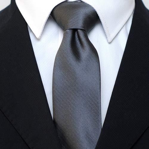 Skinny Solid Color Neckties Wedding Ties for Groomsmen 5 Pack ST518 by ZENXUS (Image #2)