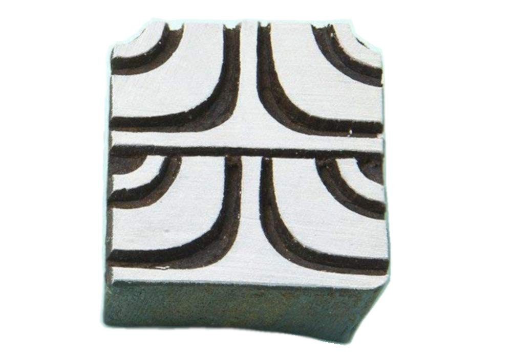 Blockwallah Squares Wooden Block Stamp