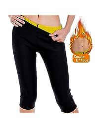 Paskyee Women's Slimming Pants for Lose Weight Sweat Sauna Leggings Body Shapers