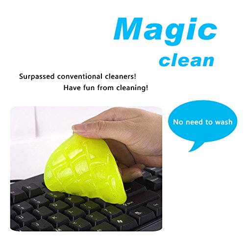 Best Of Interesting Find, Remove Dust Gel Reusable Soft Peel Away Cleaning Gel for Computer Keyboard/Electronic Items/Remote Control/Car Interior Parts/Speaker,Removes Dust/Crumbs/Hair,Alcohol-Free