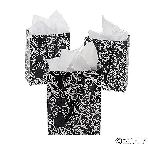 small black u0026 white wedding gift bags 1 dozen bulk