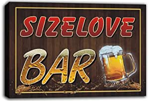 scw3 – 040822 sizelove nombre home Bar Pub Beer mugs estirado canvas print Sign