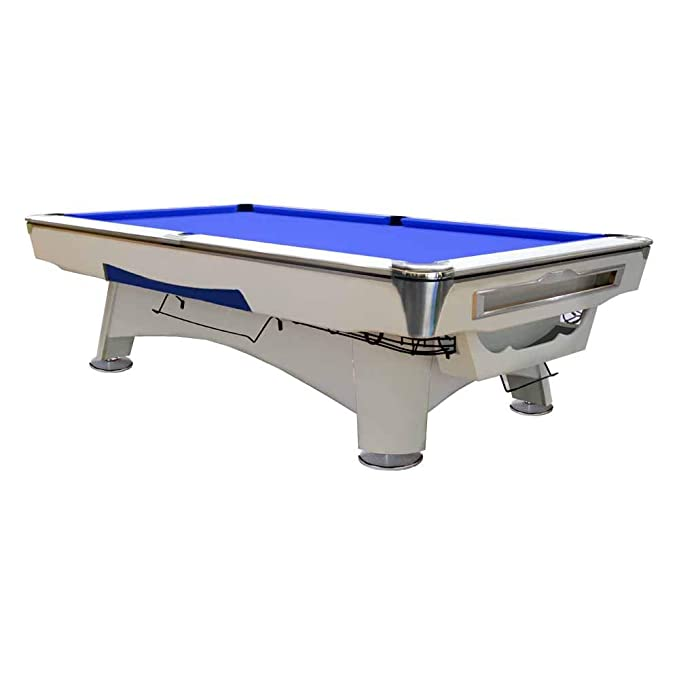 Mesa de Billar Feel Comfort Alaska 8 FT (Azul/Blanco) Pool Snooker ...