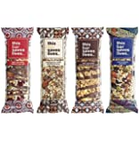 This Bar Saves Lives, All-Natural Gluten Free Whole Food Energy Snack Bar-- High Fiber Health Snack, Dairy Free, Kosher, Fair Trade and Non GMO Granola Bar-- 4 Flavor Variety Pack (8 bars)