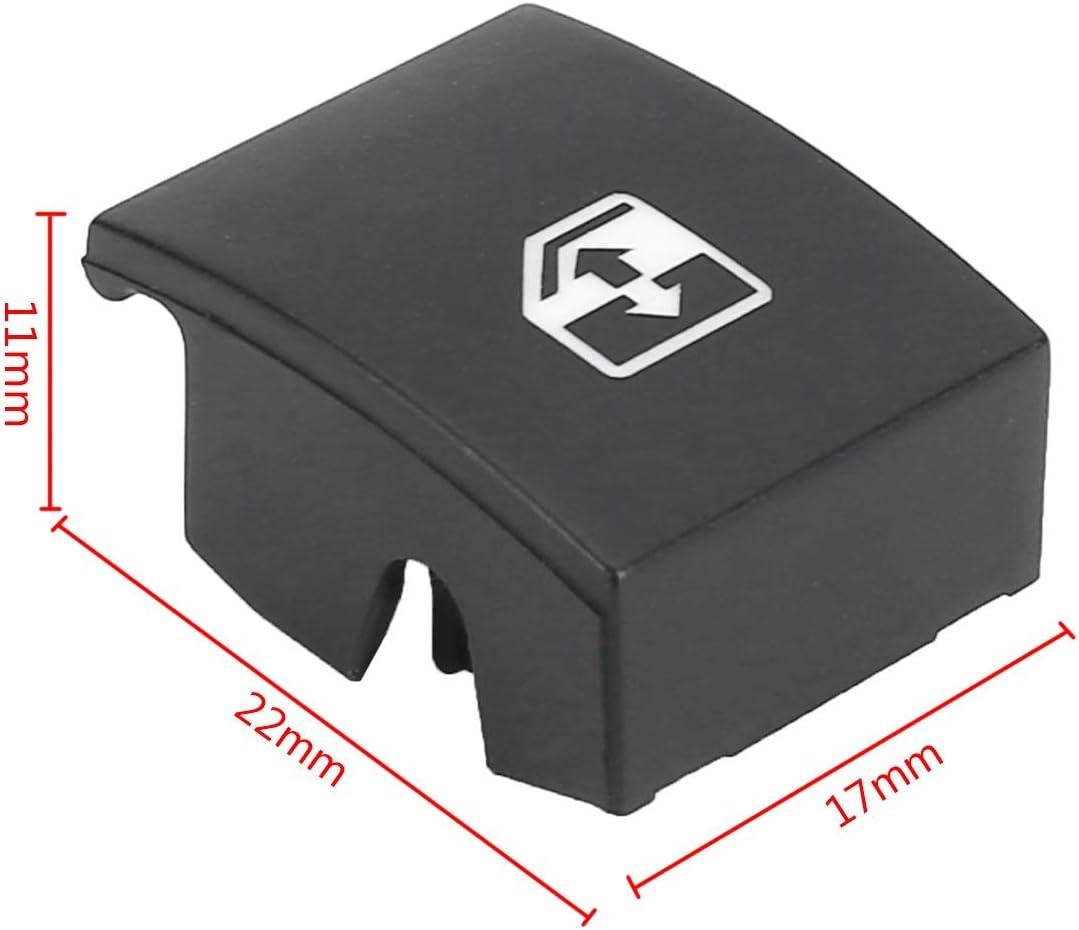 Color : Black AUTOKNOPFSCHALTER Fensterheber-Schalter Taste Abdeckung//Fit for Opel OPEL Astra H MK5 04-10 Fit for Zafira B 05-11 Fit for TIGRA B