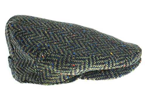 Biddy Murphy Men's Driving Cap 100% Tweed Green Made in Ireland Large