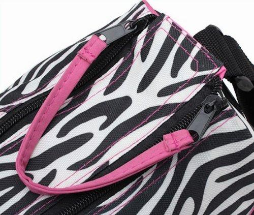 Multifuncional momia bolso bebé pañales para pañales bolso cambiador, color zebra pattern