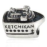 Ketchikan Alaska Cruise Ship 925 Sterling Silver Charm Bead Fits Pandora Charms