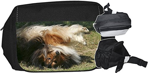 +++ SHELTIE Shetland Sheepdog - GÜRTELTASCHE Bauchtasche Futterbeutel HÜFTTASCHE Tasche - SHT 10