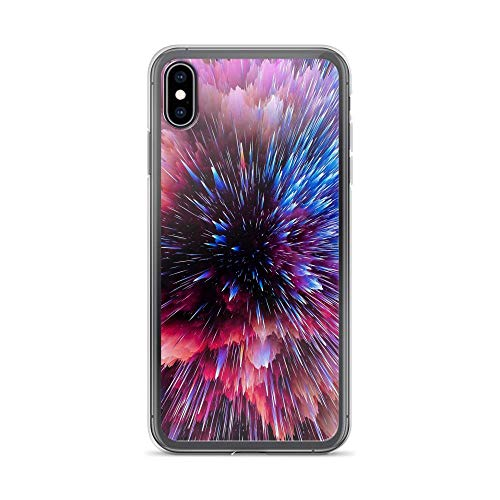 iPhone Xs Max Pure Clear Case Cases Cover Flash Space Shards Scatter Bright Colorful ()