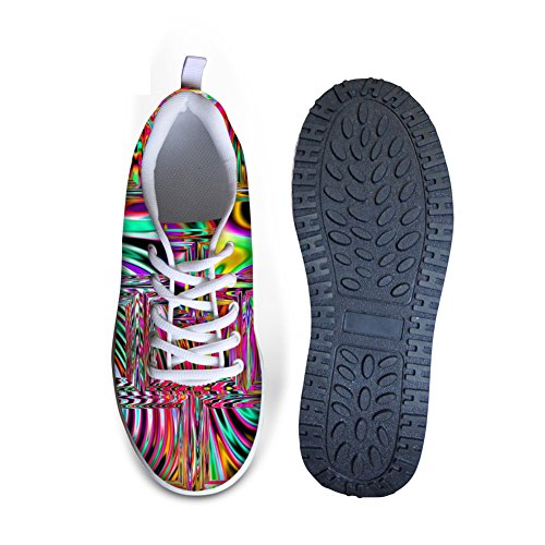 Classic Womens Shoes IDEA Platform HUGS Print Galaxy 3 Walking Stripe SOpwwq5x