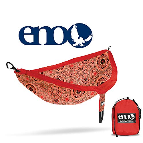 ENO Eagles Nest Outfitters - DoubleNest Print Portable Hammock for Two, Red - Nest Eagle Double Hammock