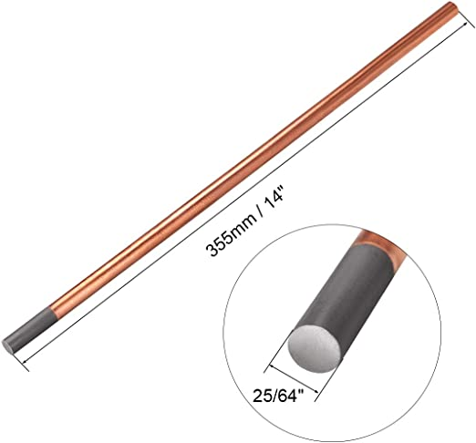 "Gouging Electrodes Pointed 3pcs Copper Coated Gouging Carbon 15//64/"" x 14/"""