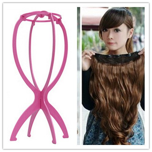 NEW Fashion Full Head Clip Curly/Wavy Women Synthetic Hair Extension with Free Gift Wig Hair Holder