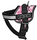 Dogline Unimax Multi-Purpose Pink Camo Vest Harness for Dogs and 2 Removable Custom Patches