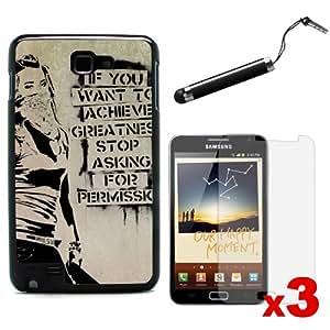 "CreativeCase's Black Hard Back Case for Samsung Galaxy Note ( N7000 ) ""Graffiti Motivation Statement"""