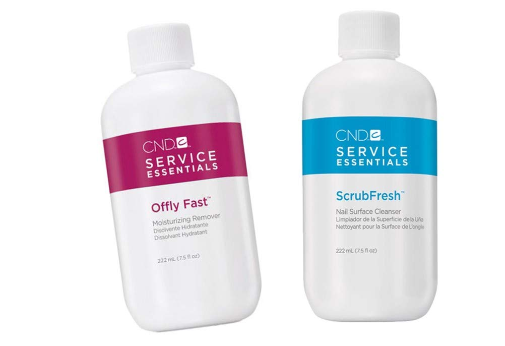 NEW Essentials Fast Moisturizing Remover and Scrub Fresh NAIL SURFACE CLEANSER- each size 7.5 fl oz by C.N.