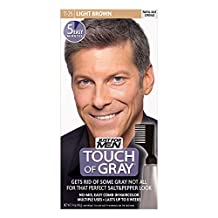 Touch of Gray Men's Hair Color, Light Brown (Pack of 3)
